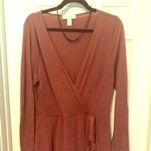 Forever 21 plus 1x wrap dress, mauve color